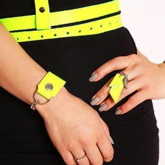 Лимонное кольцо из кожи