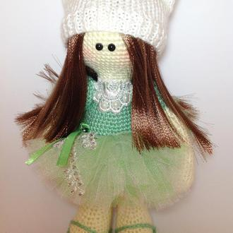 Куколка,тильда,кукла вязаная ,кукла крючком