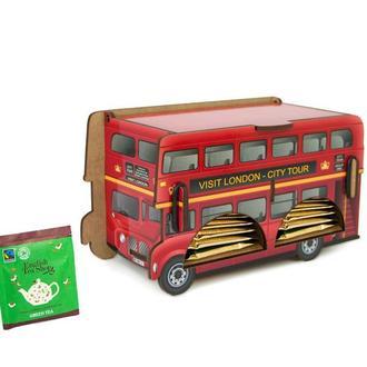 Диспенсер для чайных пакетиков «Лондонский Автобус» Артикул - DD.H-010