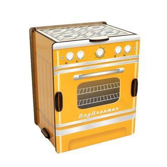 Кухонный органайзер для специй и формочек «Ретро Плита (желтая)»