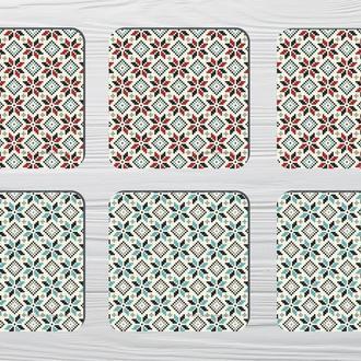 Набор костеров «Орнамент» (6шт) на пробковой основе