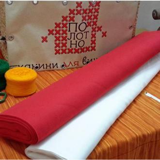 Тканина для вишивання, равномерка, полотно Червоне