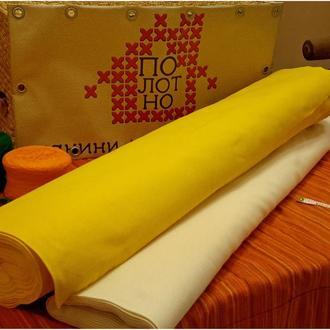 Тканина для вишивання, равномерка, полотно Жовте