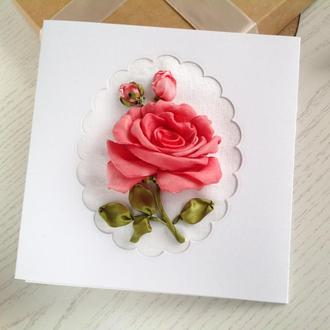 Листівка  з трояндою