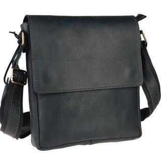 Именная кожаная мужская сумка с гравировкой  L серия, 5 цветов, бесплатная гравировка и доставка