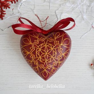 Сердце на елку с сюрпризом