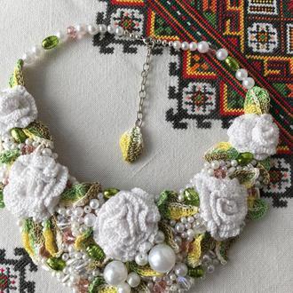 """Кольє """"Сад білих троянд"""""""