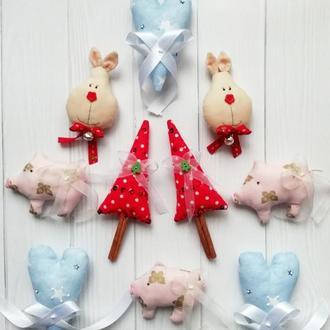 Волшебные текстильные ёлочные игрушки!
