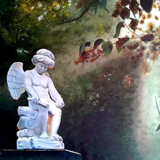 """Алек Гросс. Картина """"В парке пылающей любви"""", 130х90 см, холст, масло"""