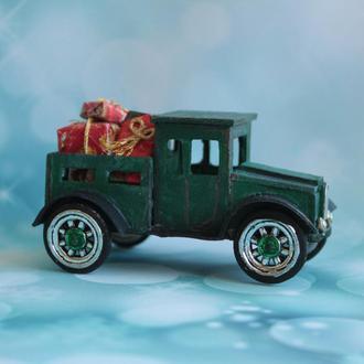 кукольная миниатюра, зеленый грузовик