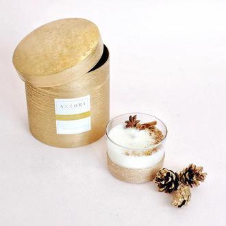 Ароматная, массажная, натуральная свеча из соевого воска Полночь, подарок, декор