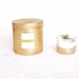 Ароматная массажная свеча из соевого воска Рождественская, подарок, декор