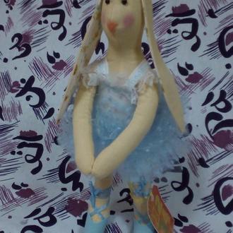 """Зайчик Тильда """" Балерина"""" інтер'єрні  іграшки ручної роботи"""