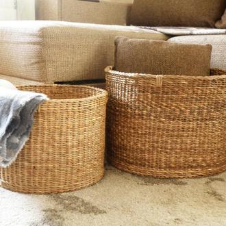 Большая плетеная корзина для хранения