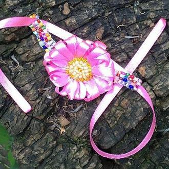 детский браслет с цветком