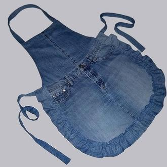 Фартук джинсовый с оборками