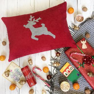 """Декоративная подушка """"Рождественский олень"""""""
