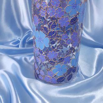 ваза винтаж витражная ручная роспись