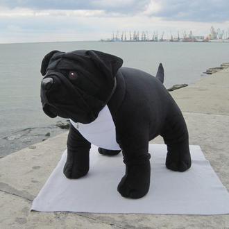 Мягкая игрушка собака бульдог