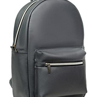Серый вместительный женский рюкзак для учебы, прогулок