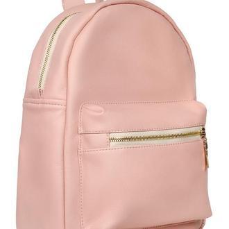 Розовый вместительный женский рюкзак для учебы, прогулок