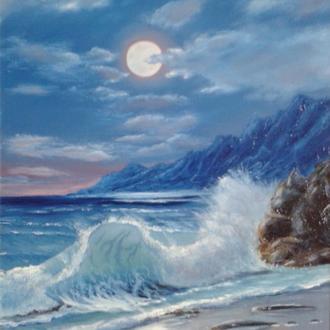 """Алек Гросс. Картина """"Лунный свет"""". Х., м., 40х50 см"""