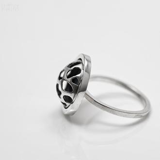 Серебряное кольцо Ажурное. Коллекция Сегменты