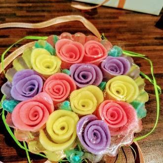 Букет роз,мыло ручной работы,подарок на любой праздник