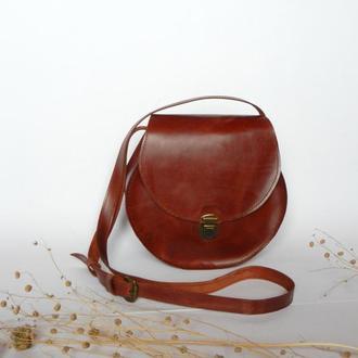 Кожаная сумка «Lillian», коньячный