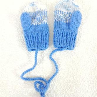 В'язані рукавиці на 1-2роки