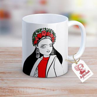 Модная Фрида Кало - чашка с авторским рисунком