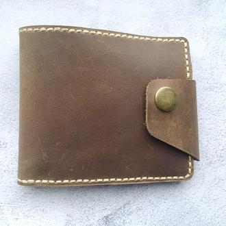 Коричневий гаманець з натуральної шкіри