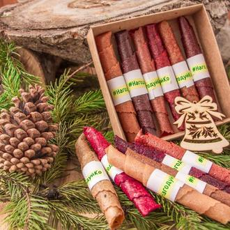 Подарочный набор фруктовой пастилы на Новый Год и Рождество