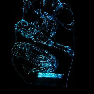 Бейблейд beyblade, ночник светильник детский в детскую, подарок мальчику
