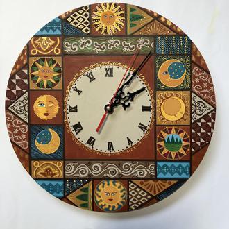 Часы Настенные Солнце и Луна