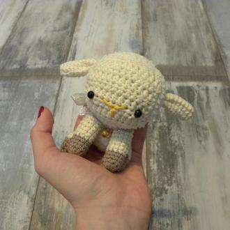 Плюшевая овечка с колокольчиком - маленькая
