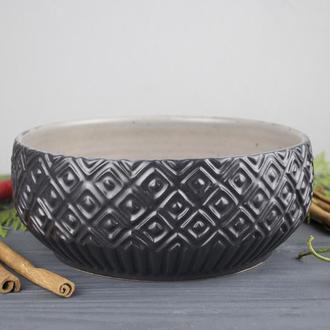 Керамический фактурный салатник