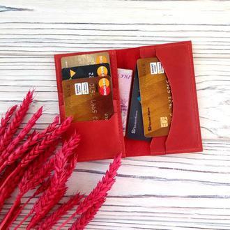 Кожаный кардхолдер купить, подарки для девушек от мастерской Kozhemyaka
