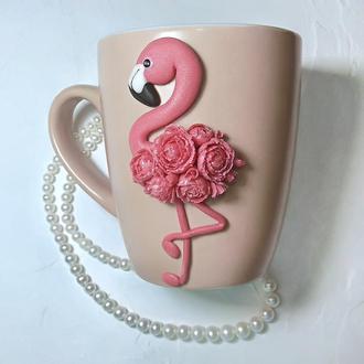 """Чашка """"Розовый фламинго"""""""