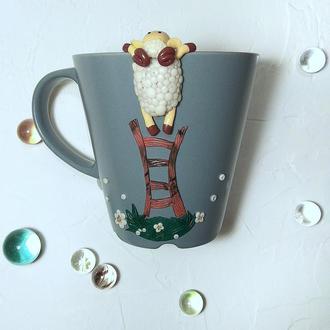"""Чашка """"Любопытная овечка"""""""