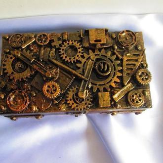 шкатулка-купюрница в стилі Стімпанк (Steampunk) втехнике Ассамбляж (assemblage)