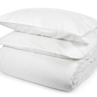 """Комплект постельного белья из 100% натурального льна, белоснежного цвета """"Белое облако"""""""