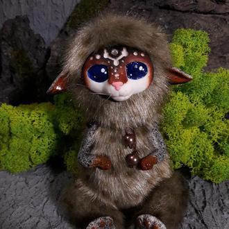 НА ЗАКАЗ. Уникальная мягкая игрушка, волшебный инарианец.  14 см