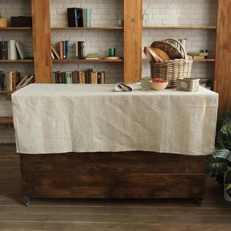"""Скатерть """"Текстурное плетение"""". Лен 100%. Декорирование стола. Натуральный текстиль"""