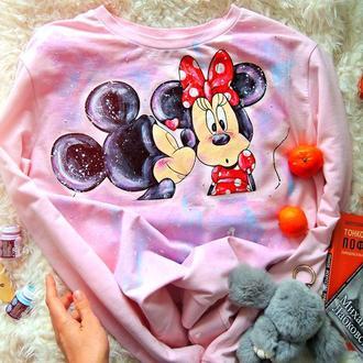 """світшотик рожевий """"Міккі та Мінні Маус"""""""