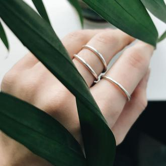 Тоненькие серебряные кольца