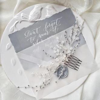 Свадебный гребень гребень для волос гребень невесты гребень для невесты купить гребень в прическу