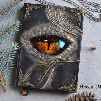 Глаз дракона, кожаный гримуар, готический