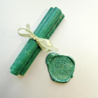 Декоративные сургучные палочки. Цвет - зеленый.