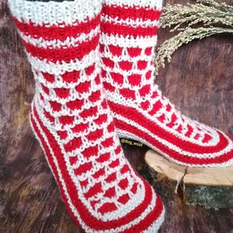 Носки объемные из натуральной овечьей шерсти 25-26см носки вязанные